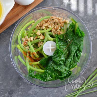 Vegan Garlic Scape and Swiss Chard Pesto recipe - step 2