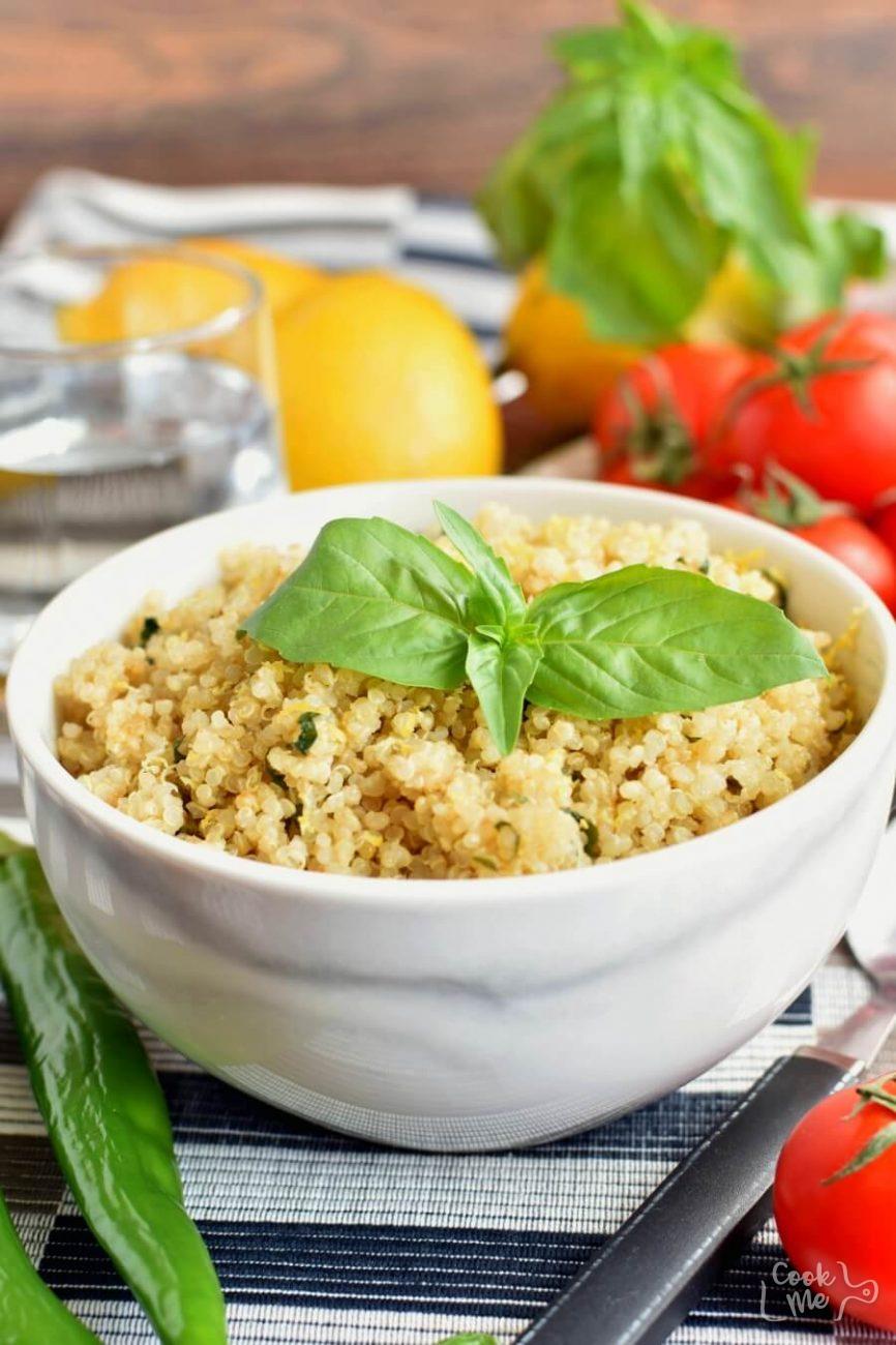 Vegan Gluten Free Lemon Herb Quinoa