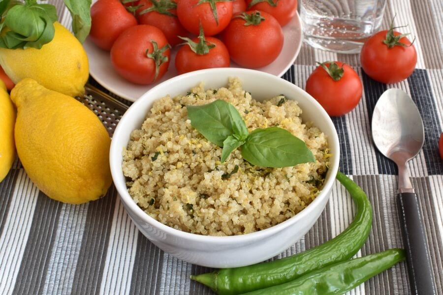 How to serve Vegan Gluten Free Lemon Herb Quinoa