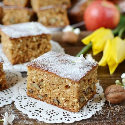 Walnut Coconut Applesauce Coffee Cake Recipe-How To Make Walnut Coconut Applesauce Coffee Cake-Delicious Walnut Coconut Applesauce Coffee Cake