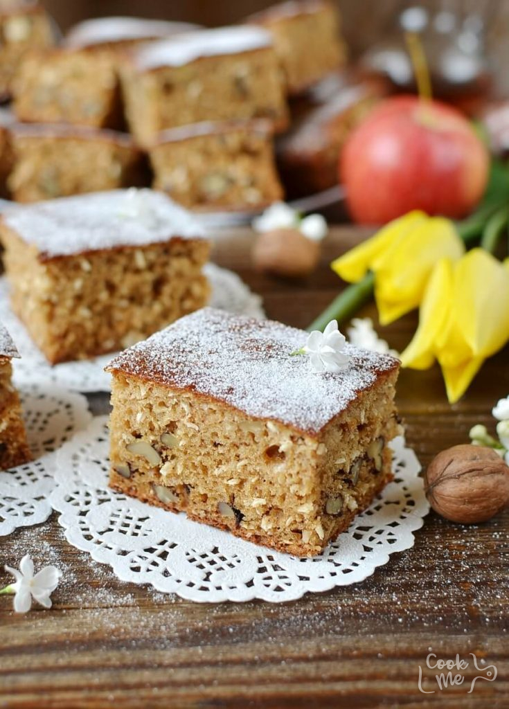 Walnut Coconut Applesauce Coffee Cake