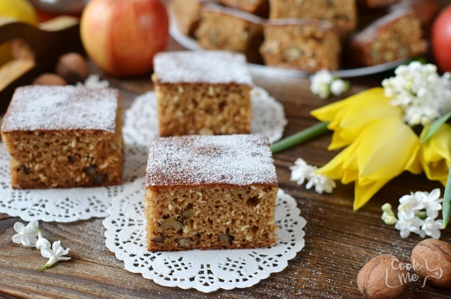 How to serve Walnut Coconut Applesauce Coffee Cake