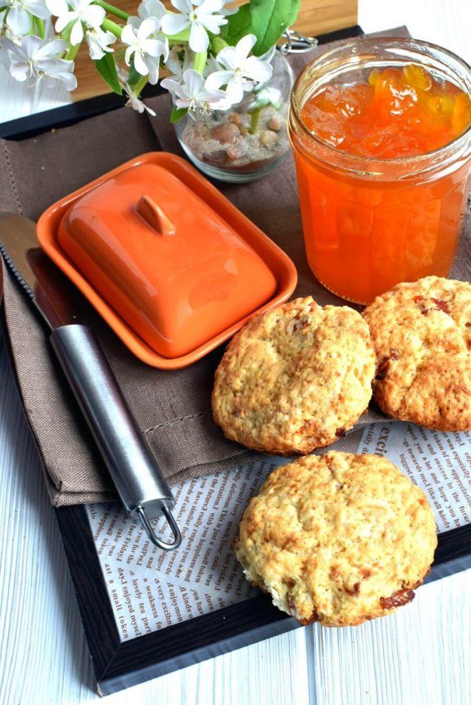 Apricot Coconut Scones Recipe-Homemade Apricot Coconut Scones-Delicious Apricot Coconut Scones