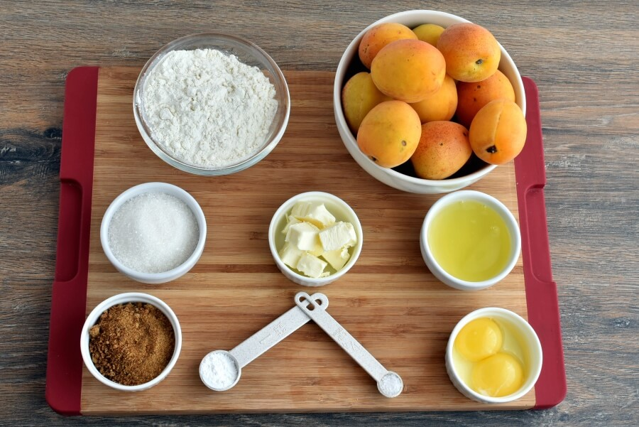 Ingridiens for Apricot Upside-Down Cake