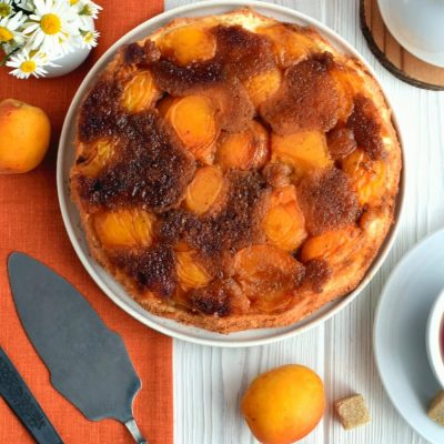 Apricot Upside-Down Cake Recipe-Homemade Apricot Upside-Down Cake-Delicious Apricot Upside-Down Cake