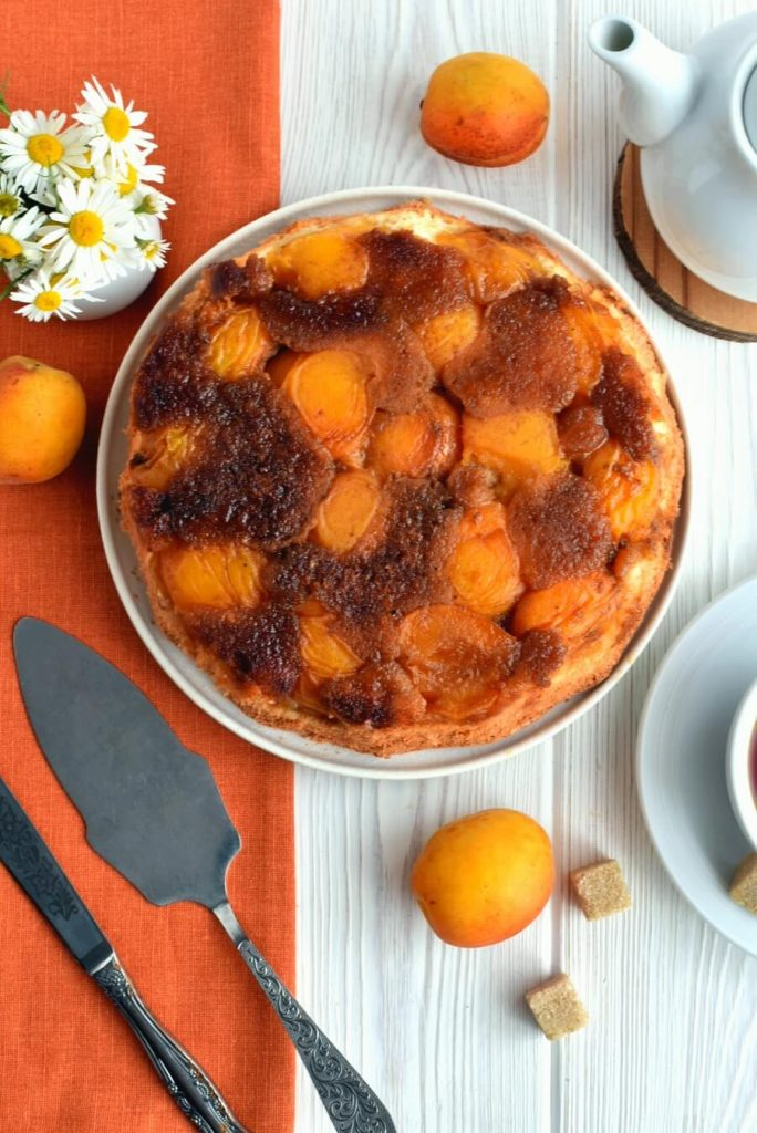 Soft and Moist Inverted Apricot Cake