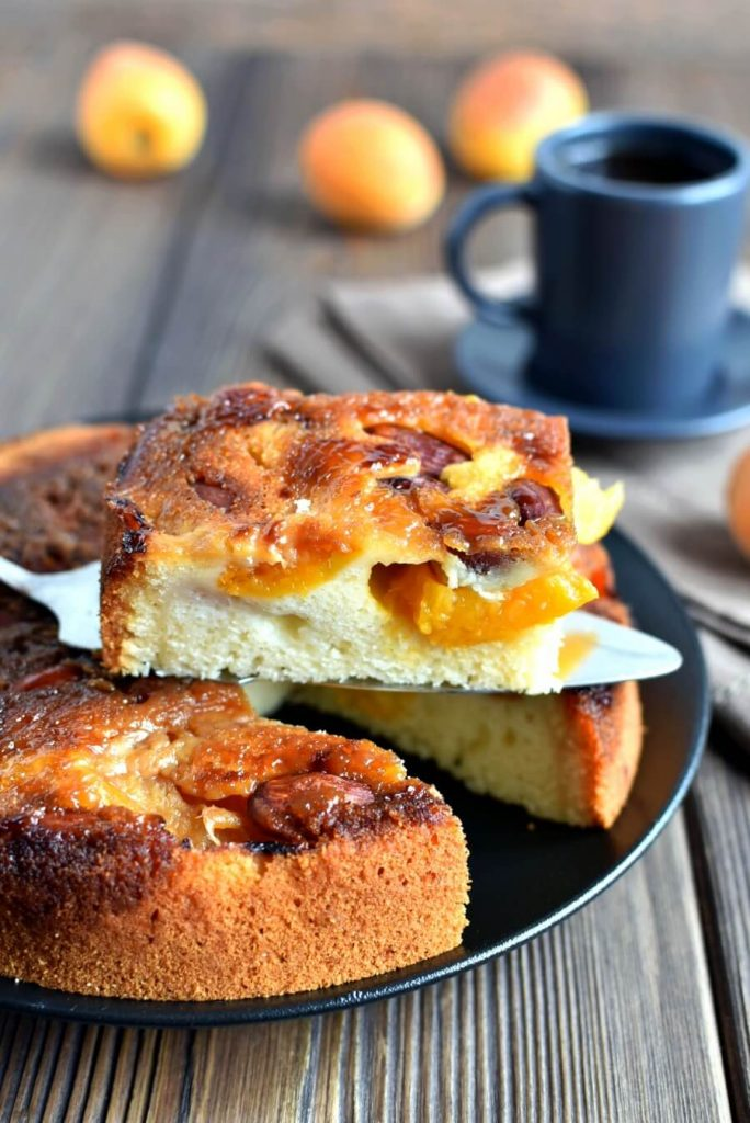 Apricot Butter Cake Recipe-Homemade Apricot Butter Cake-Delicious Apricot Butter Cake