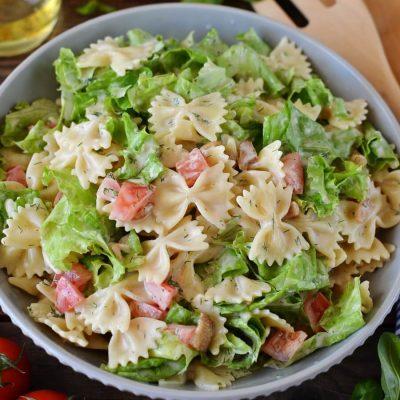 BLT Pasta Salad Recipe-Homemade BLT Pasta Salad-How To Make BLT Pasta Salad