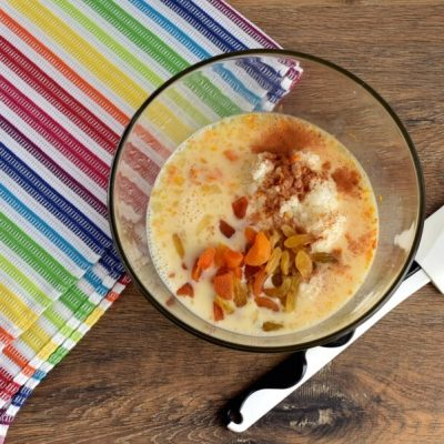 Baked Rice Pudding with Dried Apricots recipe - step 2