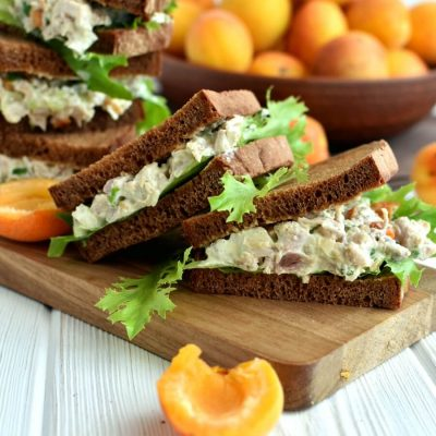 Cashew Turkey Salad Sandwiches Recipe- Homemade Cashew Turkey Salad Sandwiches-Delicious Cashew Turkey Salad Sandwiches