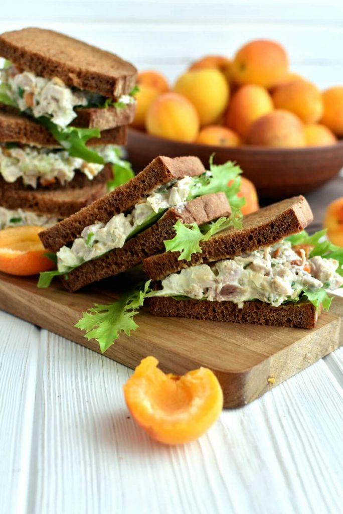 Cashew Apricots Turkey Salad Sandwiches