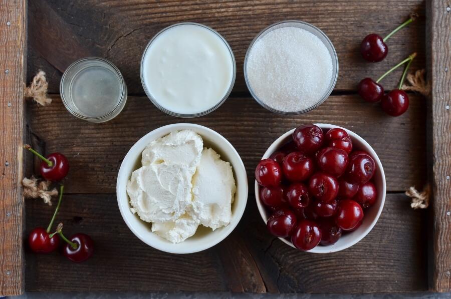 Ingridiens for Cherry Cheesecake Frozen Yogurt