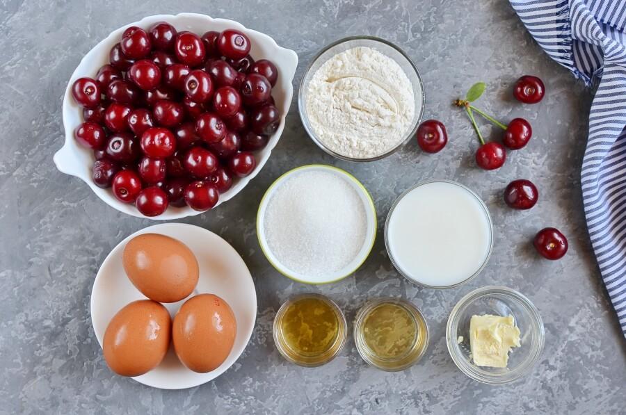 Ingridiens for Cherry Clafoutis
