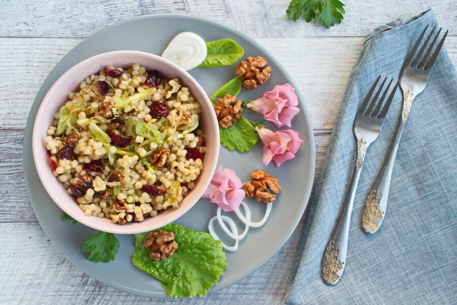 How to serve Vegan Cherry and Leek Couscous