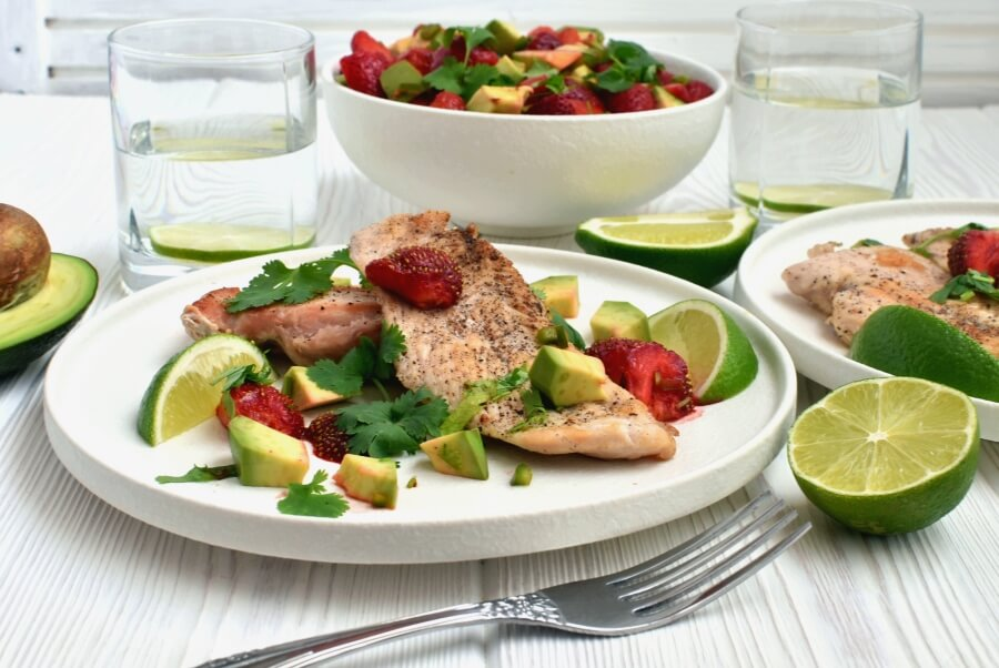 How to serve Chicken Cutlets with Strawberry-Avocado Salsa