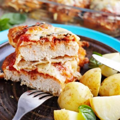 Chicken Parmesan Recipe-How to Make Chicken Parmesan-The Best Crispy Chicken Parmesan