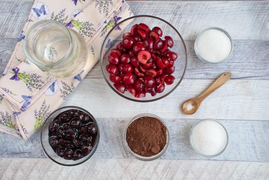 Ingridiens for Vegan Chocolate Cherry Sorbet