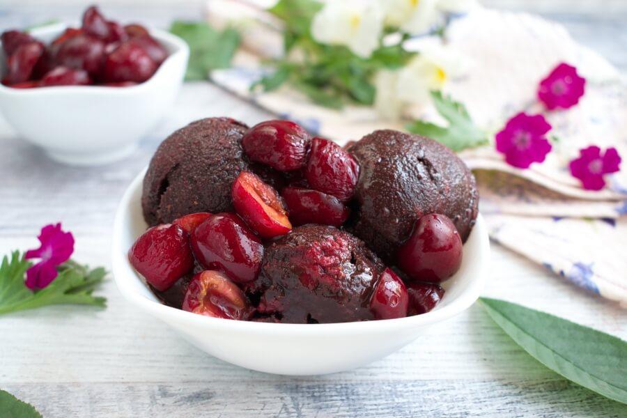 How to serve Vegan Chocolate Cherry Sorbet