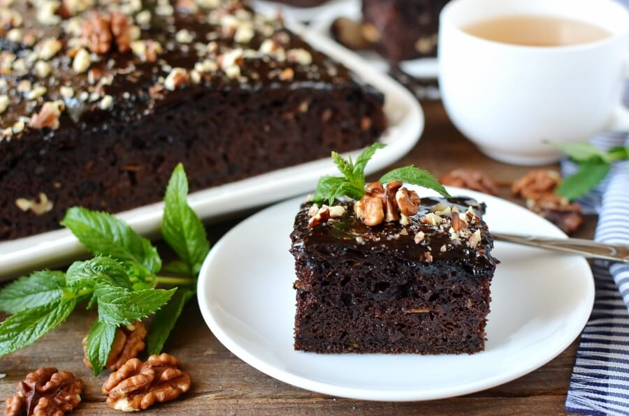 How to serve Zucchini Chocolate Cake