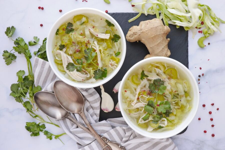 How to serve Detox Chicken Cabbage Soup