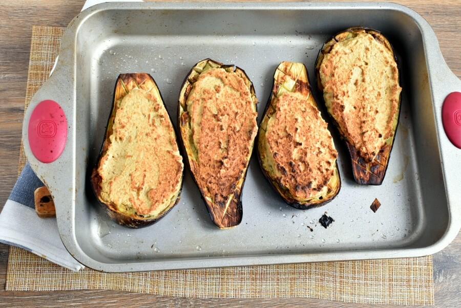 Vegetarian Falafel-Stuffed Eggplant recipe - step 7
