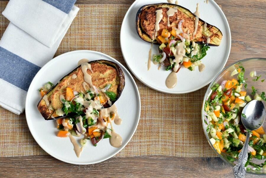 How to serve Vegetarian Falafel-Stuffed Eggplant