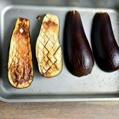Vegetarian Falafel-Stuffed Eggplant recipe - step 4