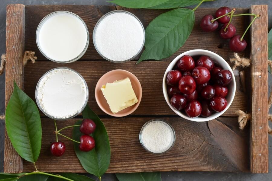 Ingridiens for Fresh Cherry Cobbler