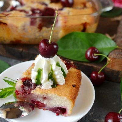 Fresh Cherry Cobbler Recipe-How To Make Fresh Cherry Cobbler-Delicious Fresh Cherry Cobbler
