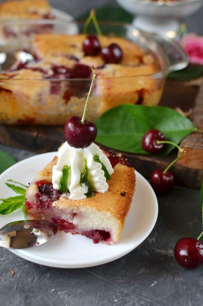 A simple summer cherry dessert