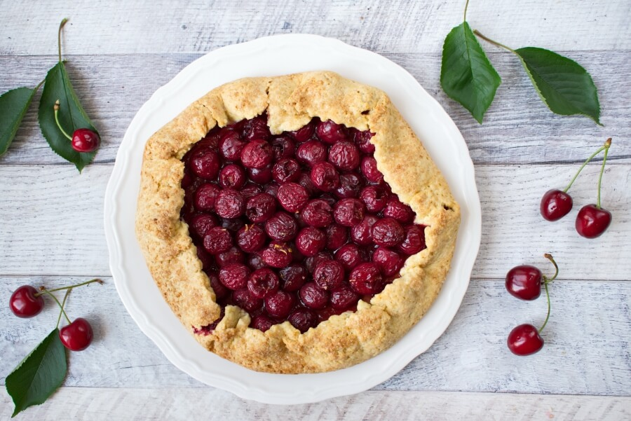 Fresh Cherry Galette recipe-Rustic Cherry Galette Recipe-Sweet Cherry Galette