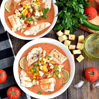Gazpacho With Lime Chicken Recipe-How To Make Gazpacho With Lime Chicken-Delicious Gazpacho With Lime Chicken