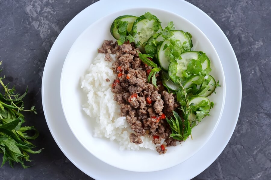 How to serve Ginger Pork and Cucumber Salad with Mint