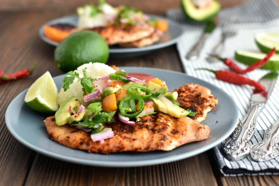 Grilled Ancho Chicken Breasts and Apricot Salsa Recipe-How Grilled Ancho Chicken Breasts and Apricot Salsa-Delicious Grilled Ancho Chicken Breasts and Apricot Salsa