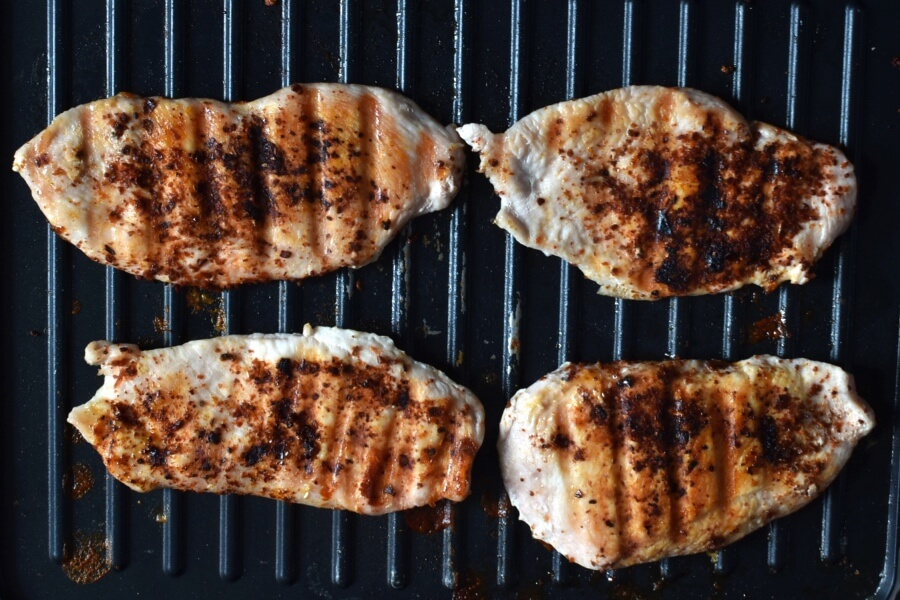 Grilled Ancho Chicken Breasts with Apricot Salsa recipe - step 4