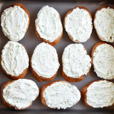Grilled Crostini with Garlic Scape Cream Cheese and Tomatoes recipe - step 5