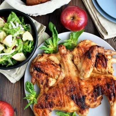 Grilled Spiced Chicken with Crunchy Apple Salad Recipe-Homemade Grilled Spiced Chicken with Crunchy Apple Salad-Delicious Grilled Spiced Chicken with Crunchy Apple Salad