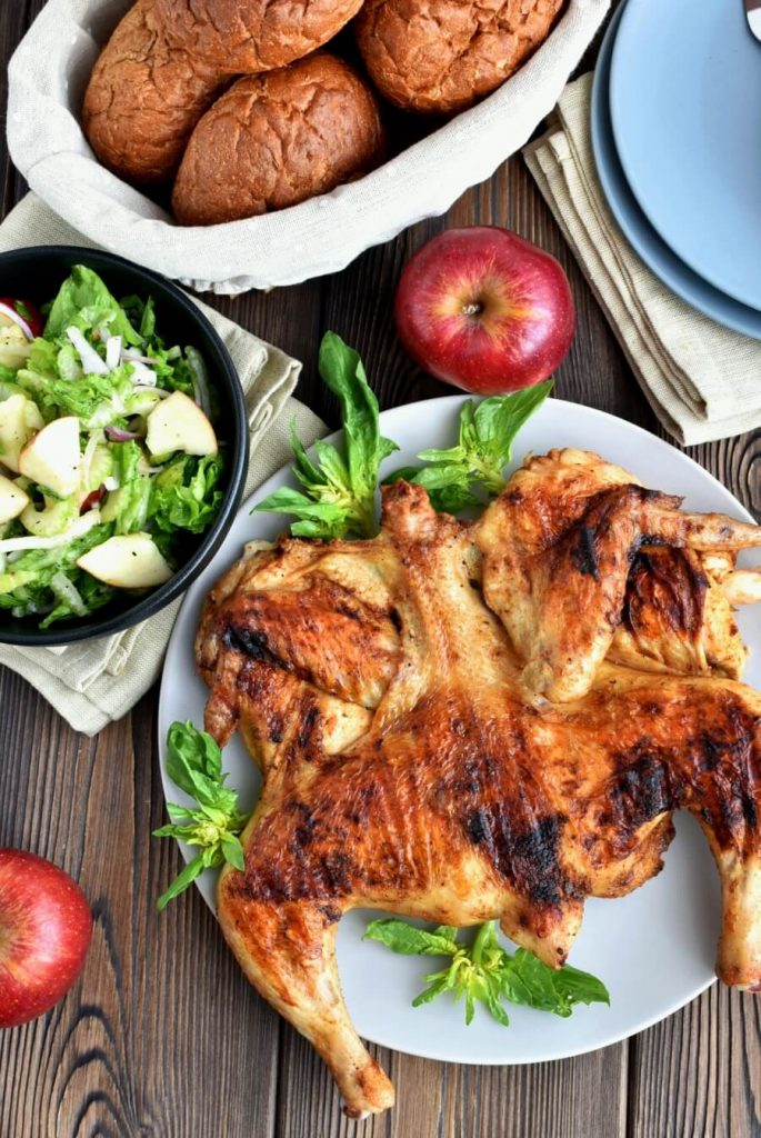 Grilled Spiced Chicken with Crunchy Apple Salad