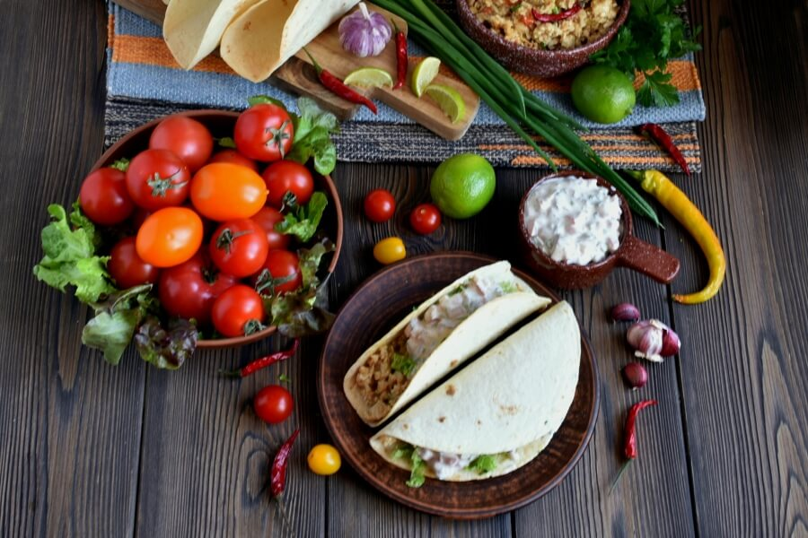 How to serve Ground Chicken Tacos with Creamy Salsa