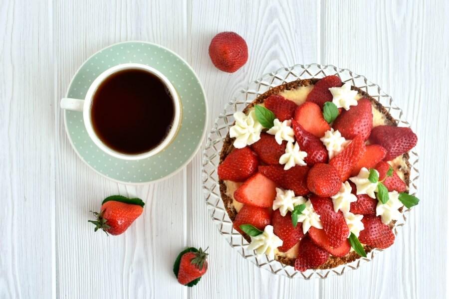 Healthy Strawberry-Orange Tart Recipe-How To Make Healthy Strawberry-Orange Tart-Delicious Healthy Strawberry-Orange Tart