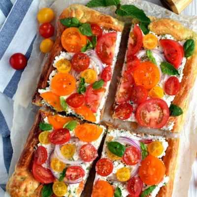 Herbed Ricotta and Fresh Tomato Tart Recipe-How To Herbed Ricotta and Fresh Tomato Tart -Delicious Herbed Ricotta and Fresh Tomato Tart