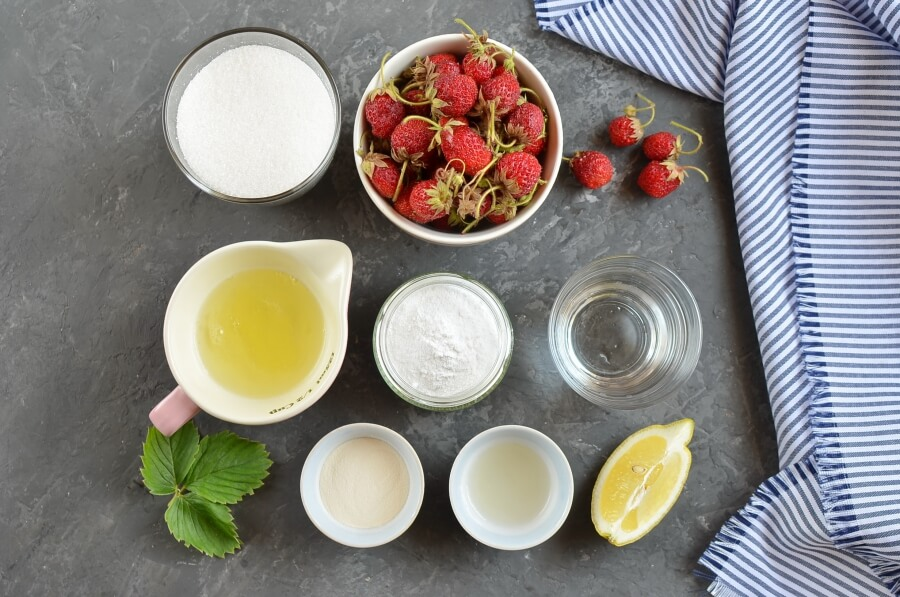 Ingridiens for Homemade Strawberry Marshmallows (Zephyr)