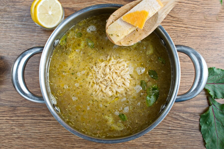 Lemon Chicken and Chard Orzo Soup recipe - step 7