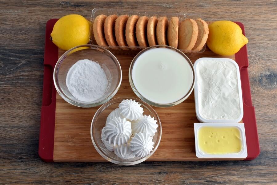 Ingridiens for Lemon Meringue Fridge Cake