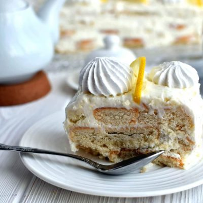 Lemon meringue fridge cake Recipe-How To Lemon meringue fridge cake-Delicious Yogurt Lemon meringue fridge cake