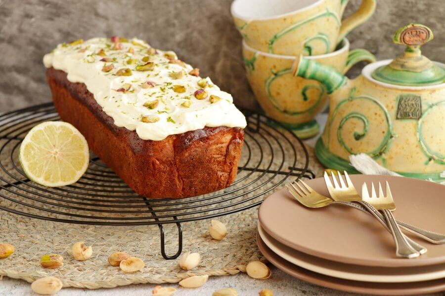 How to serve Pistachio, Lime & Zucchini Loaf