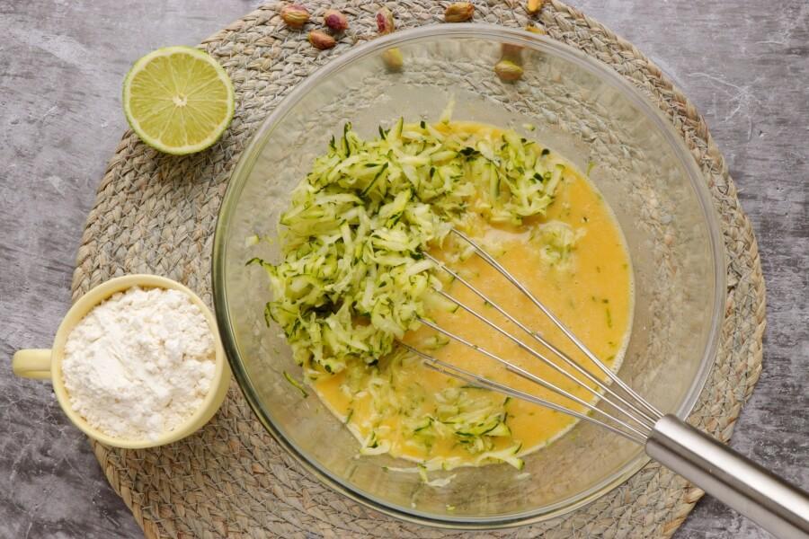 Pistachio, Lime & Zucchini Loaf recipe - step 3