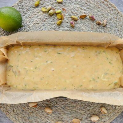 Pistachio, Lime & Zucchini Loaf recipe - step 5