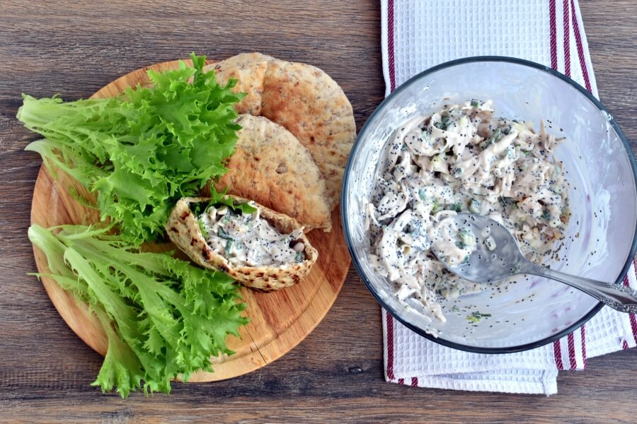 How to serve Poppy Seed Chicken Pitas