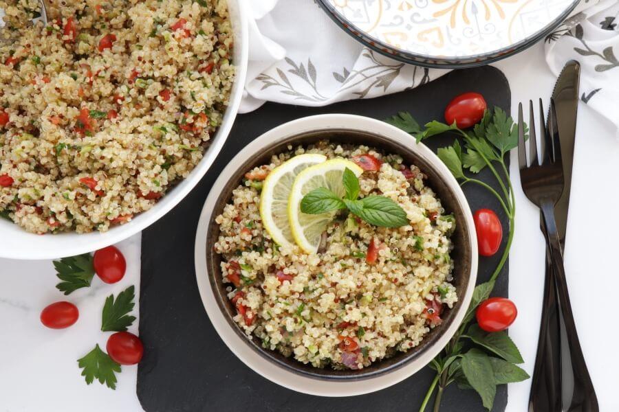 How to serve Gluten Free Quinoa Tabbouleh Salad